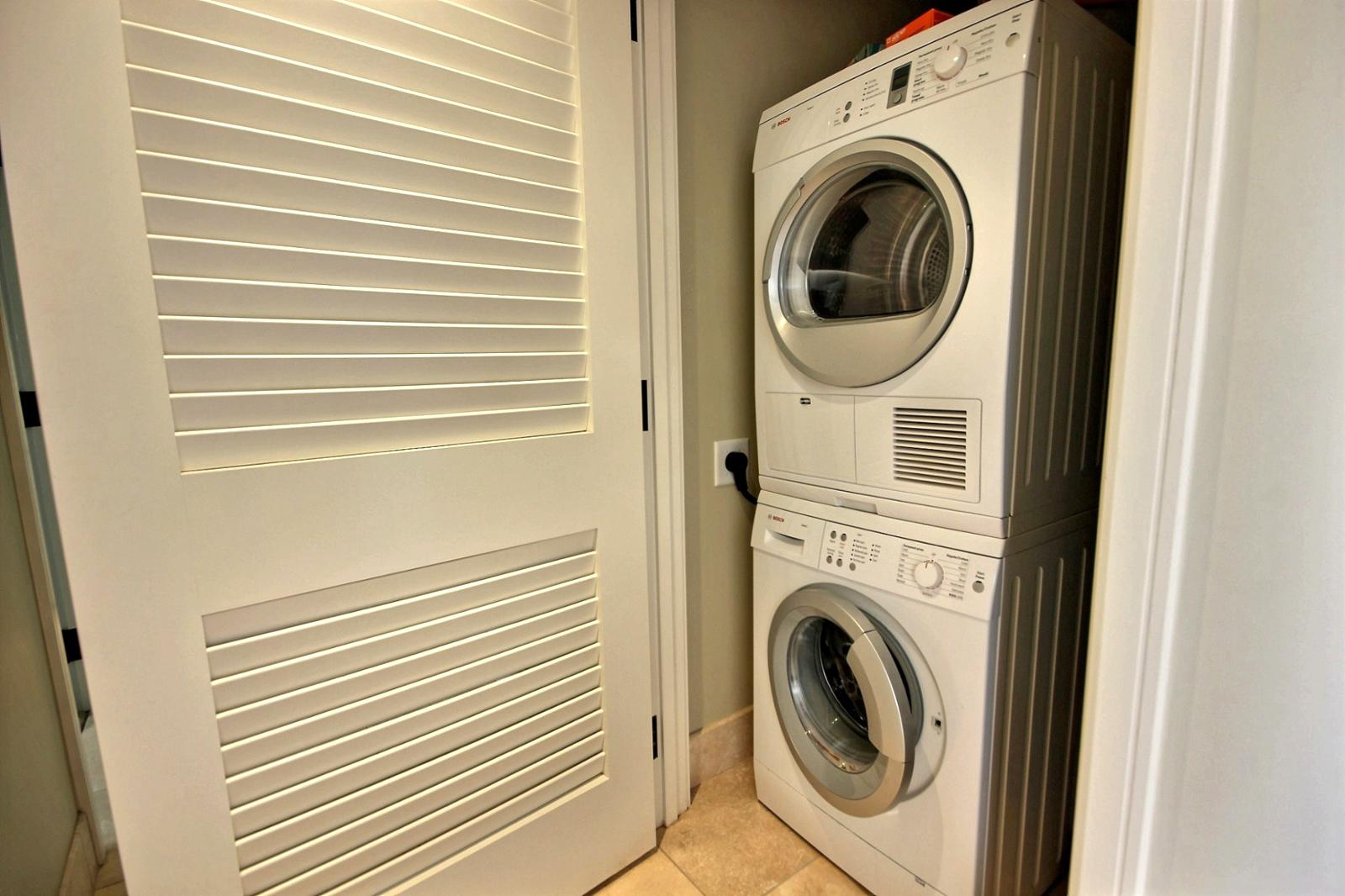 Bosch Washer & Dryer to keep those bathing suits fresh each day