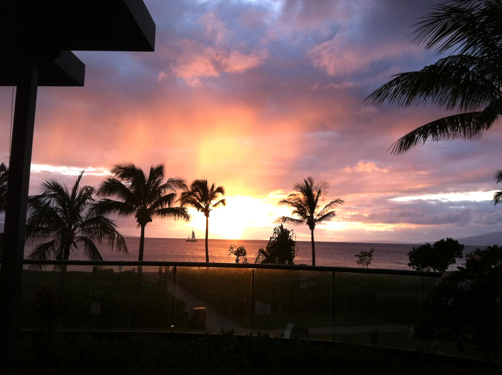 View from Lanai of another gorgeous sunset!