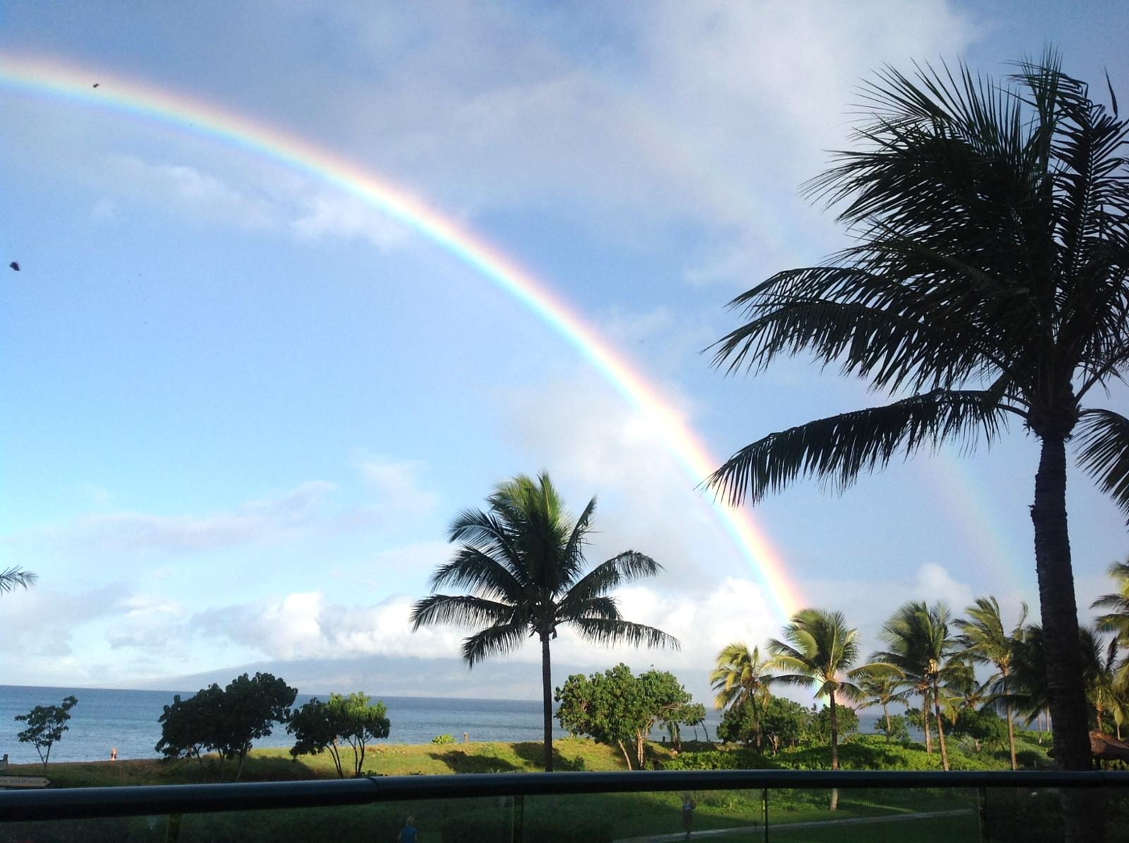 View from Lanai - pot of gold!