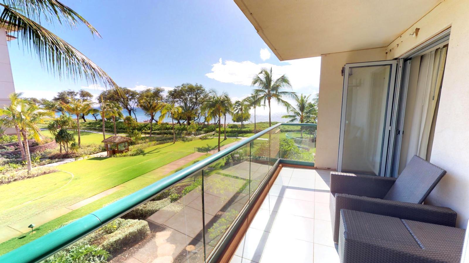 Large sunny and breezy balcony