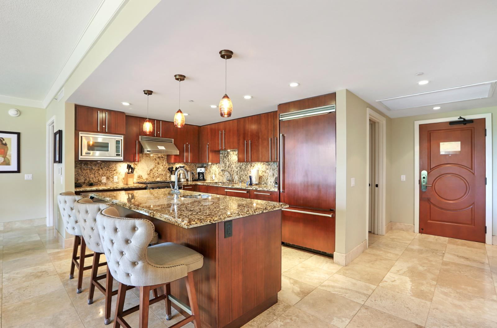 Beautiful kitchen to prepare nightly meals