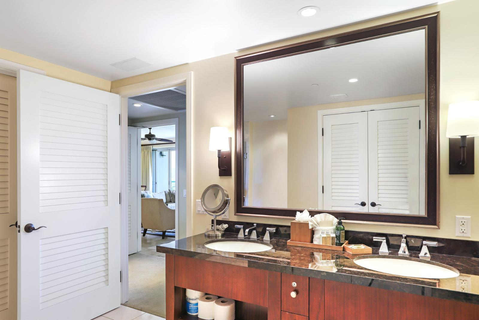 Private entry to master bath