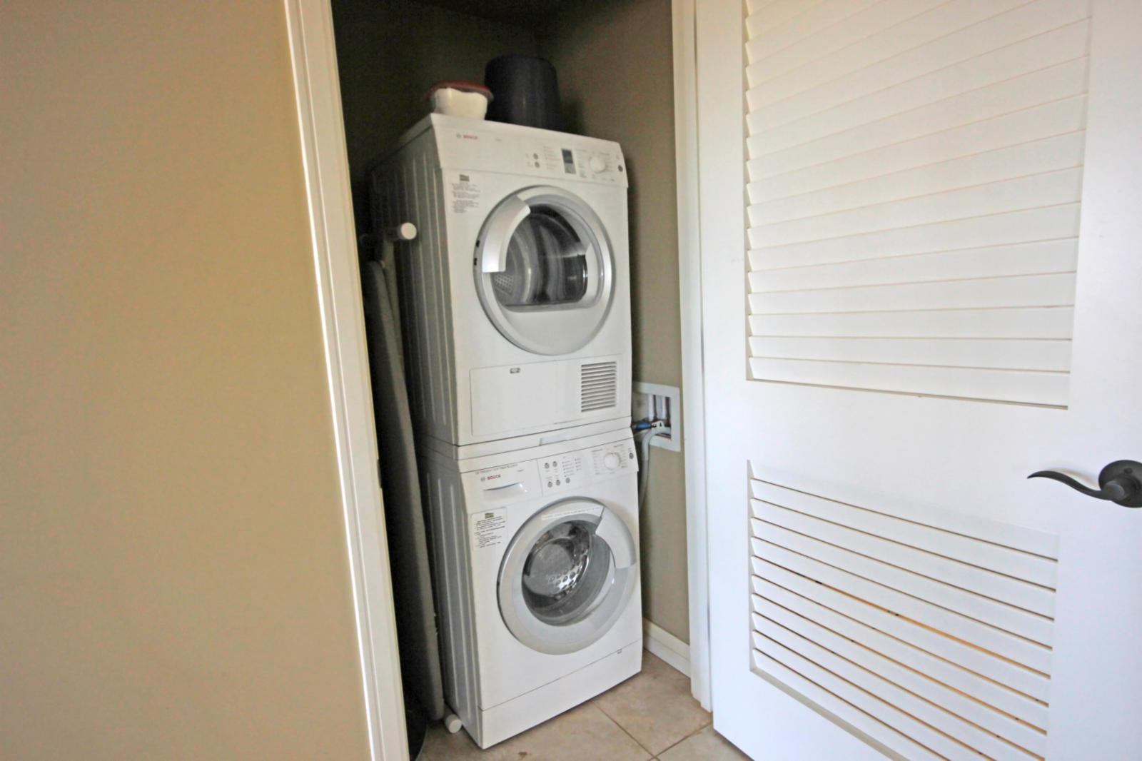 Washer and Dryer available for your use in the unit.