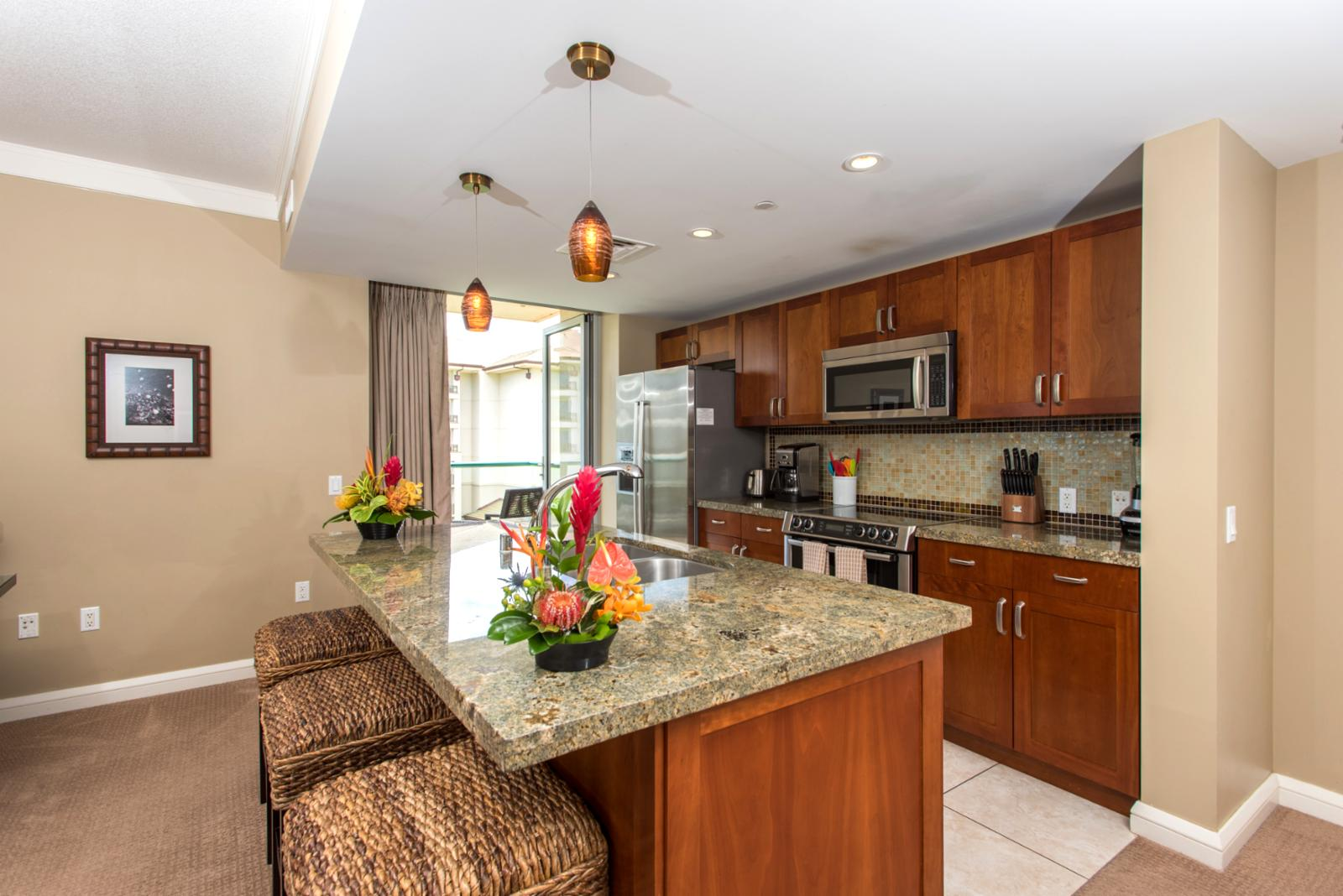 Large kitchen with top of the line appliances perfect for cooking nightly meals.
