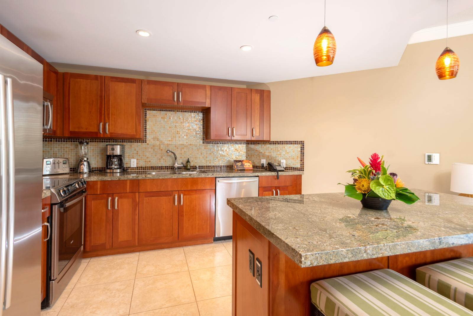 Large layout and counter space