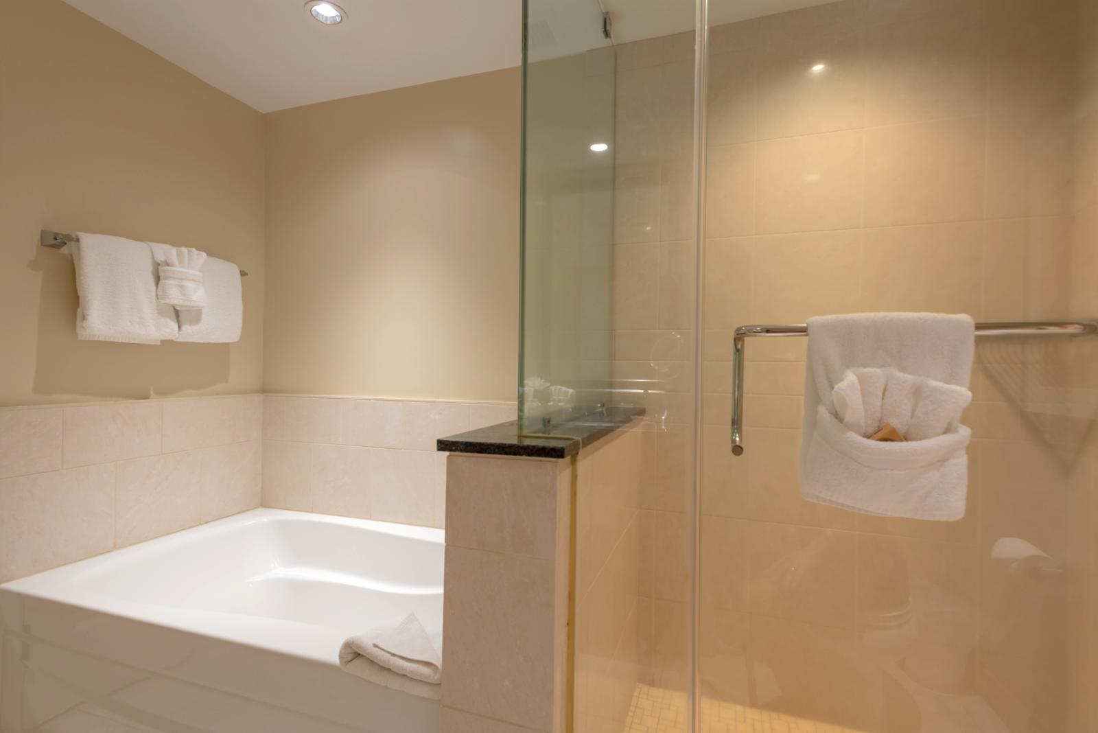 Entry angle of floor to ceiling glass shower