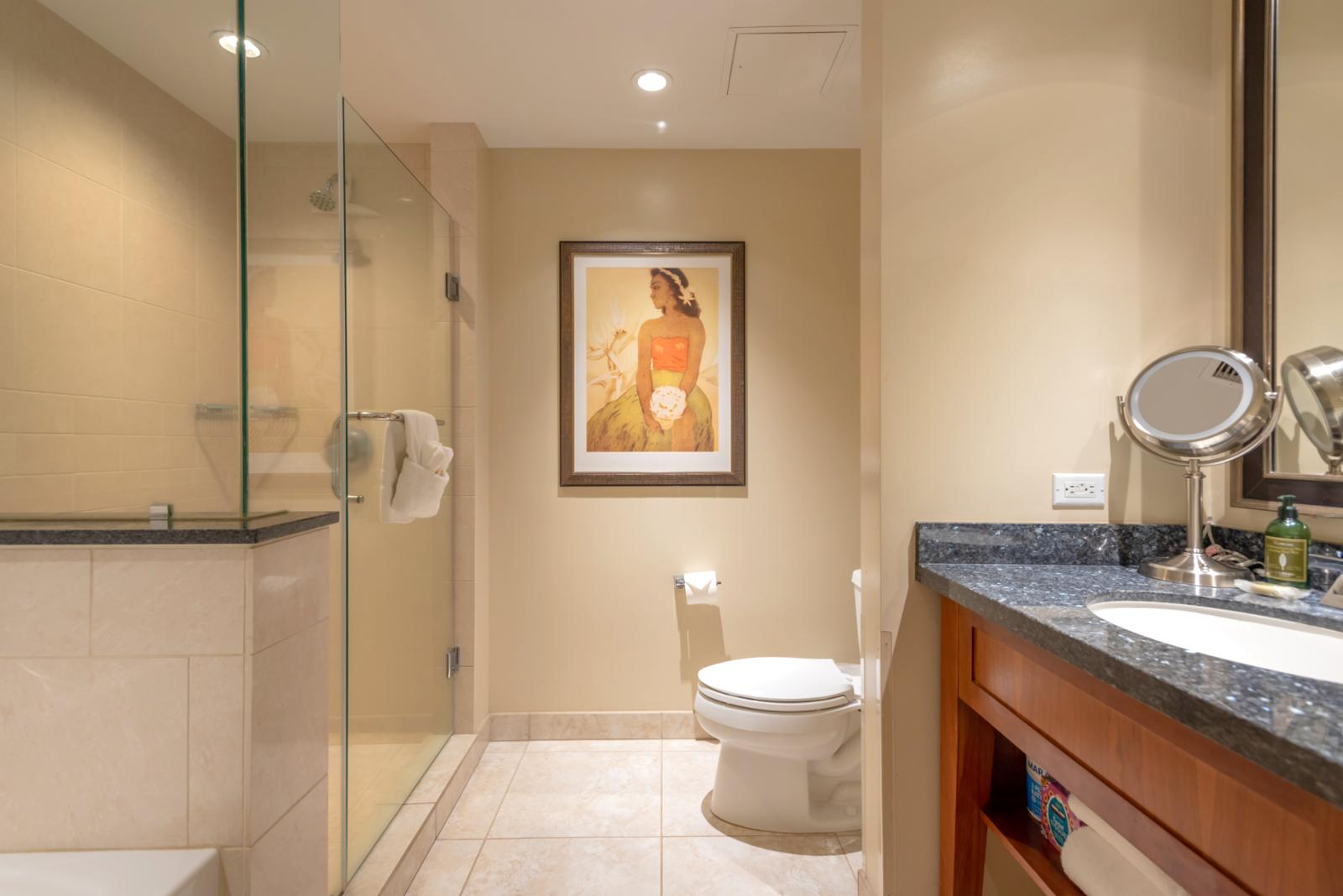 Spacious bathroom floorplan