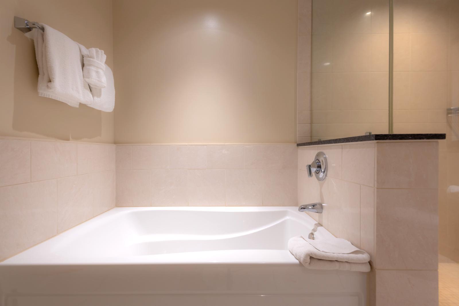 Comfortable soaking tub