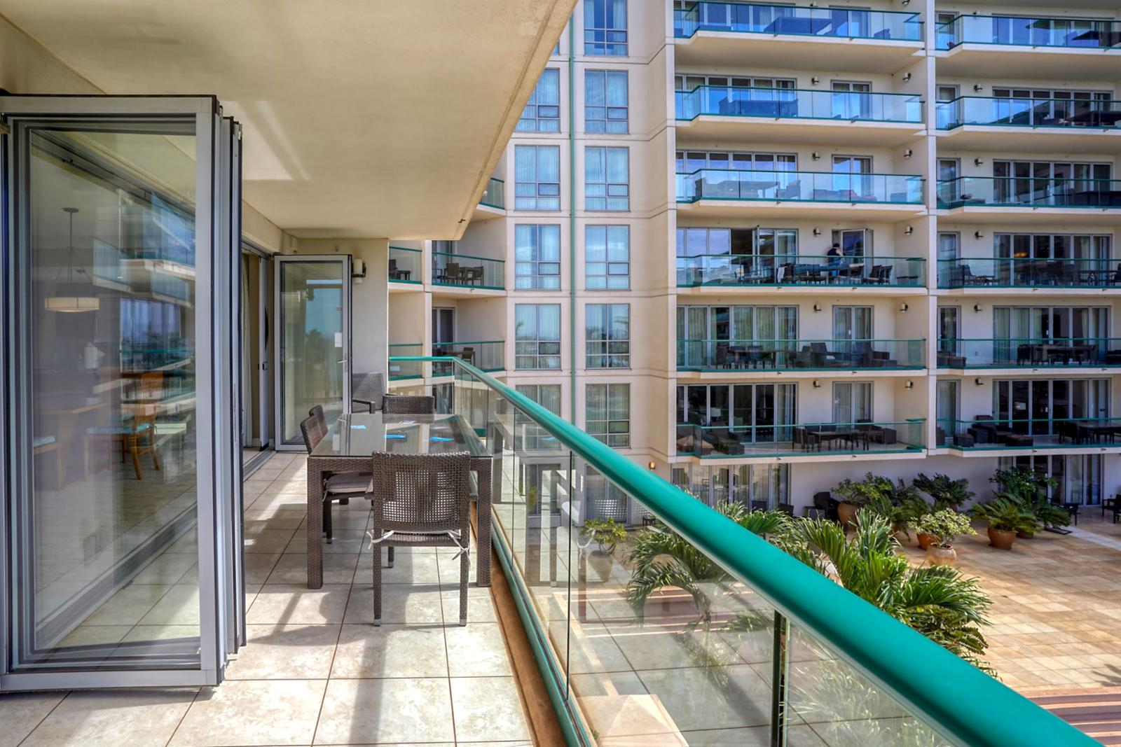 Large oversized balcony, perfect for families