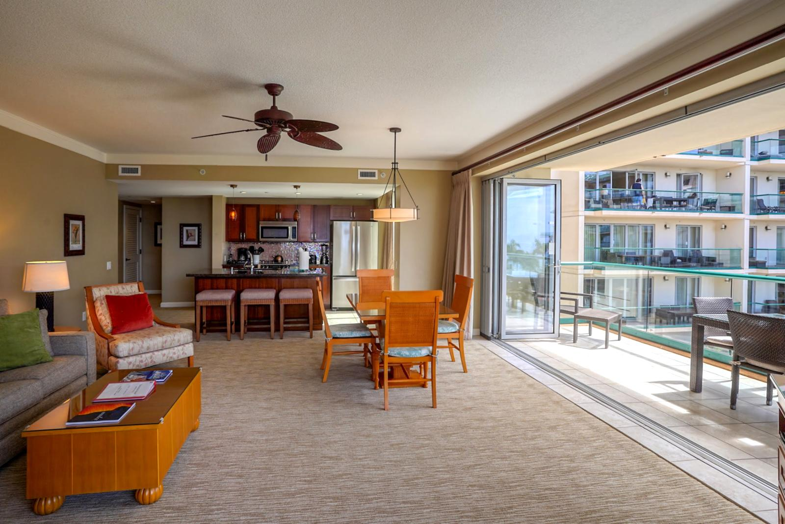 Large open concept layout
