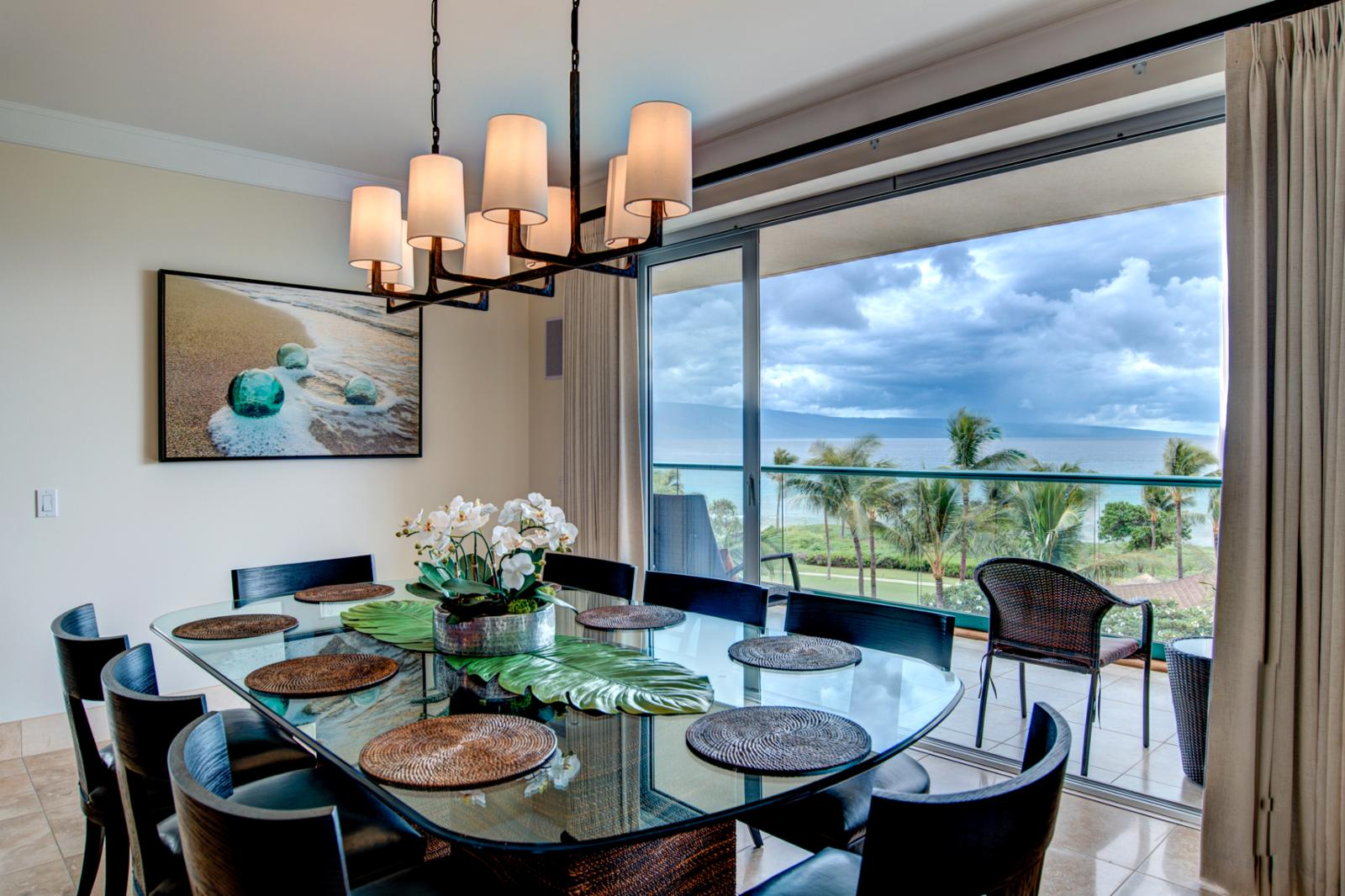 Dine in your own luxury oasis, consider a private chef dinner during sunset with this expansive views