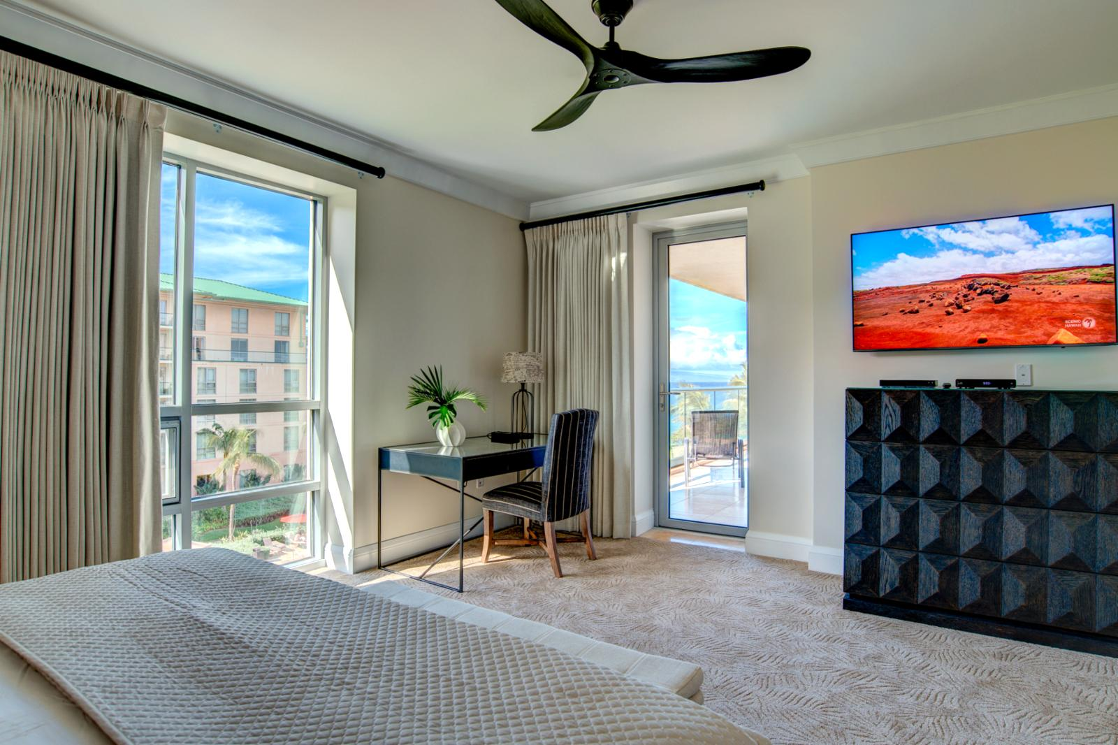 Dual ocean views from this one of a kind master suite