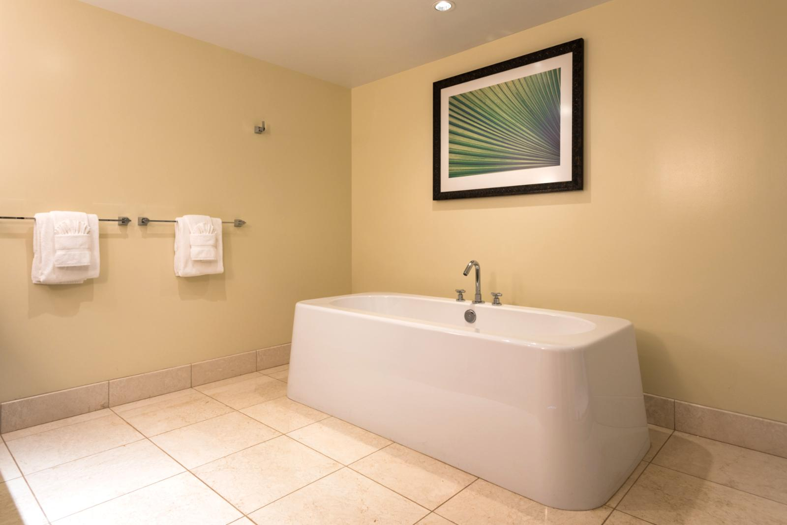Relax in your own soaking tub
