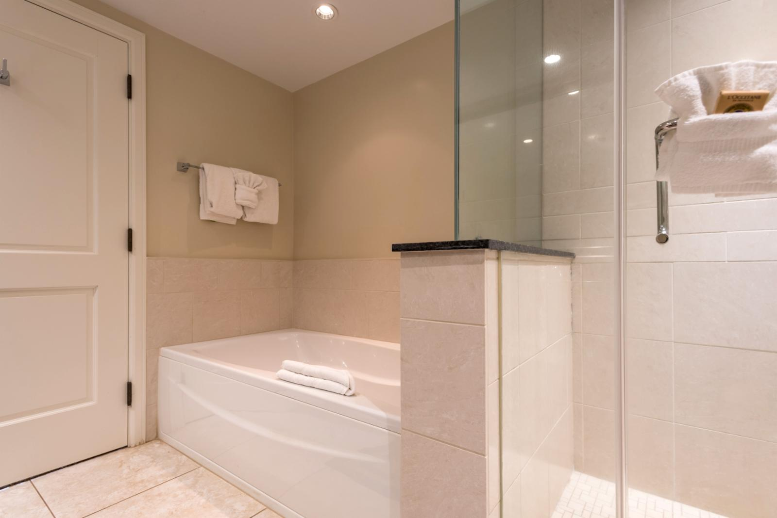 Guest bath reverse angle