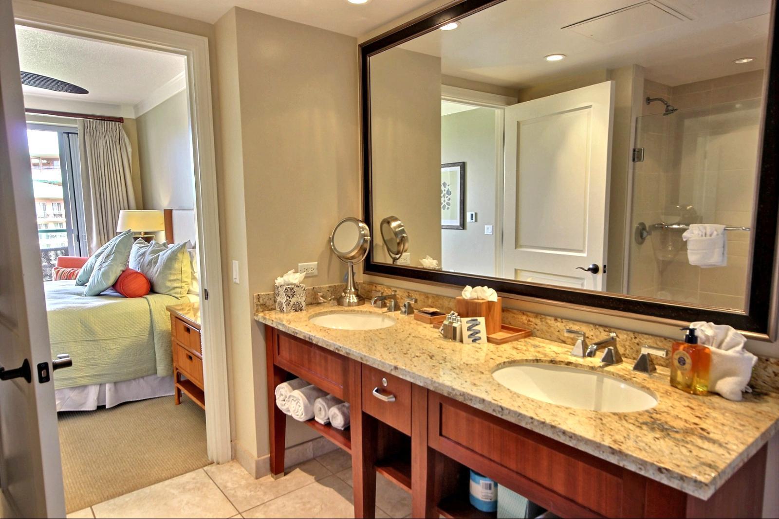 Extra large vanity mirror.