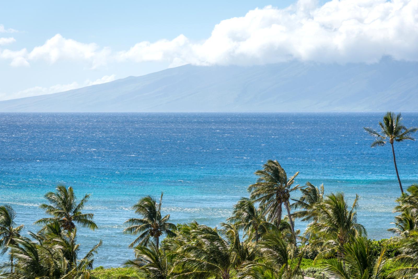 Oceans views of Molokai!