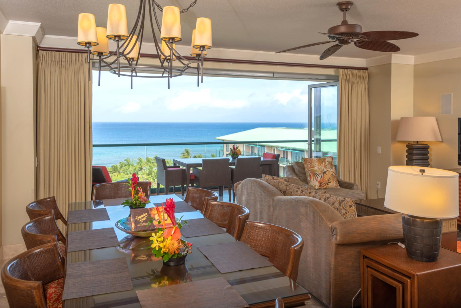 Beautiful ocean views from dining room