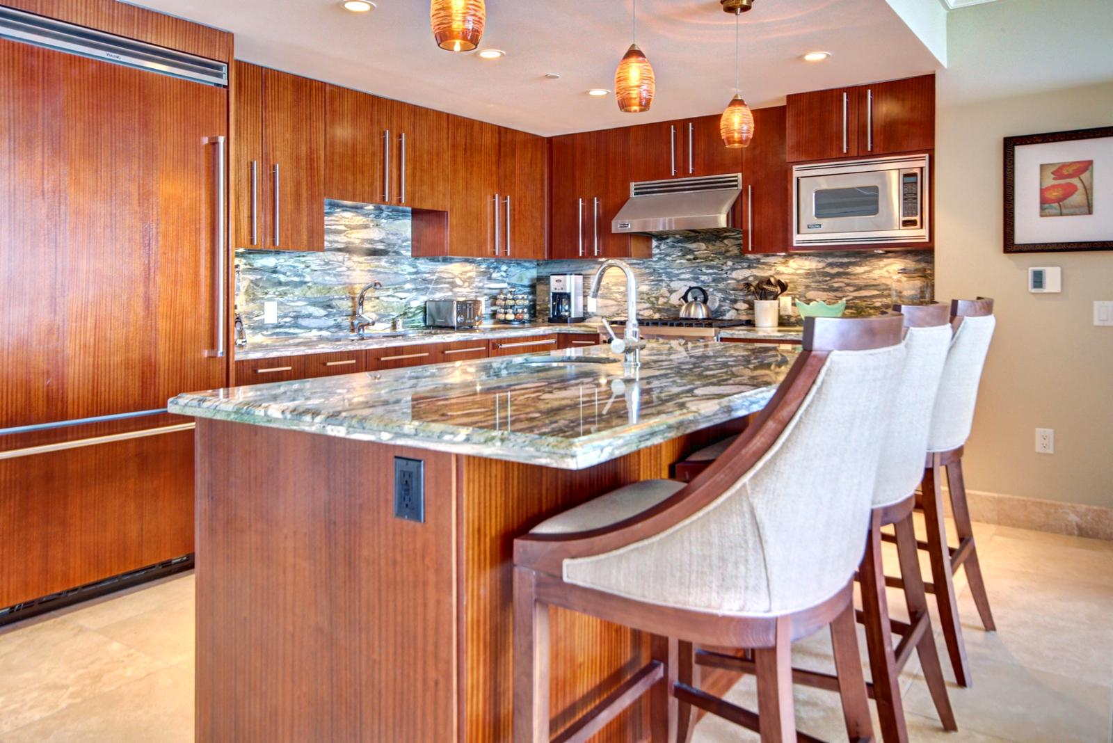 Large gourmet kitchen with all Viking appliances.