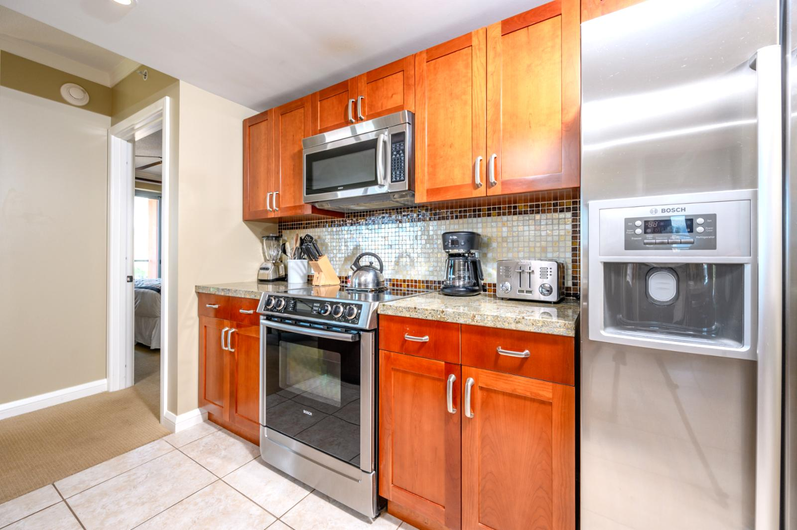 Kitchen with High end appliances