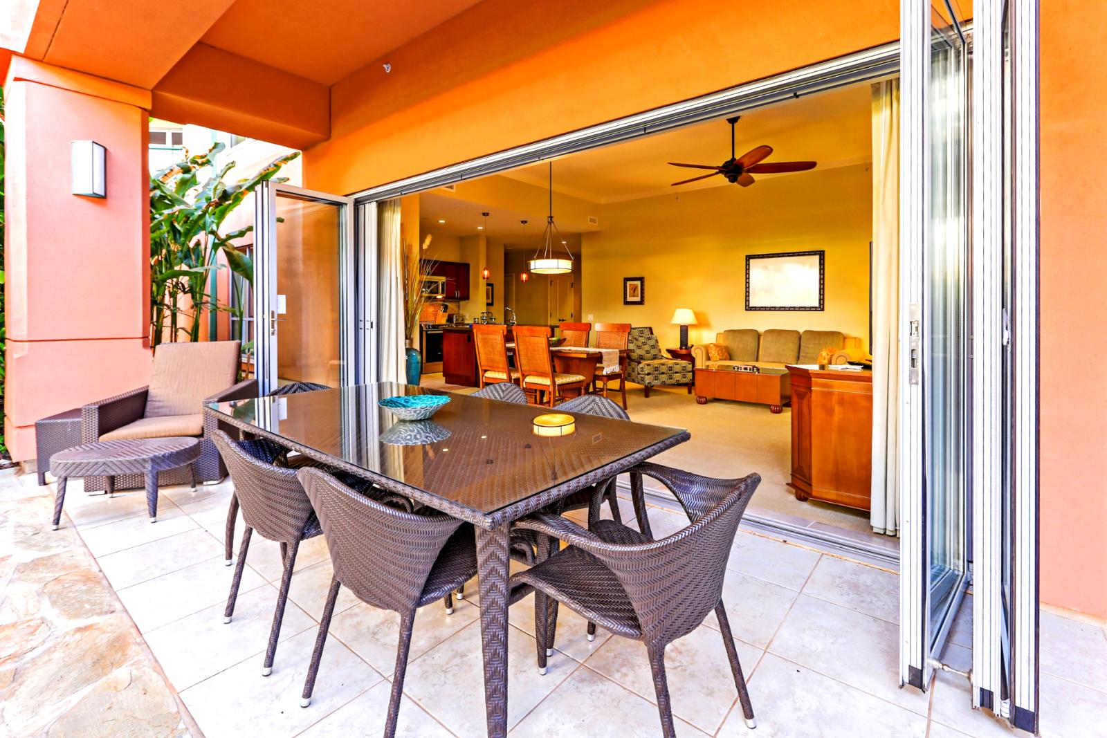 Your own private lanai with garden retreat!