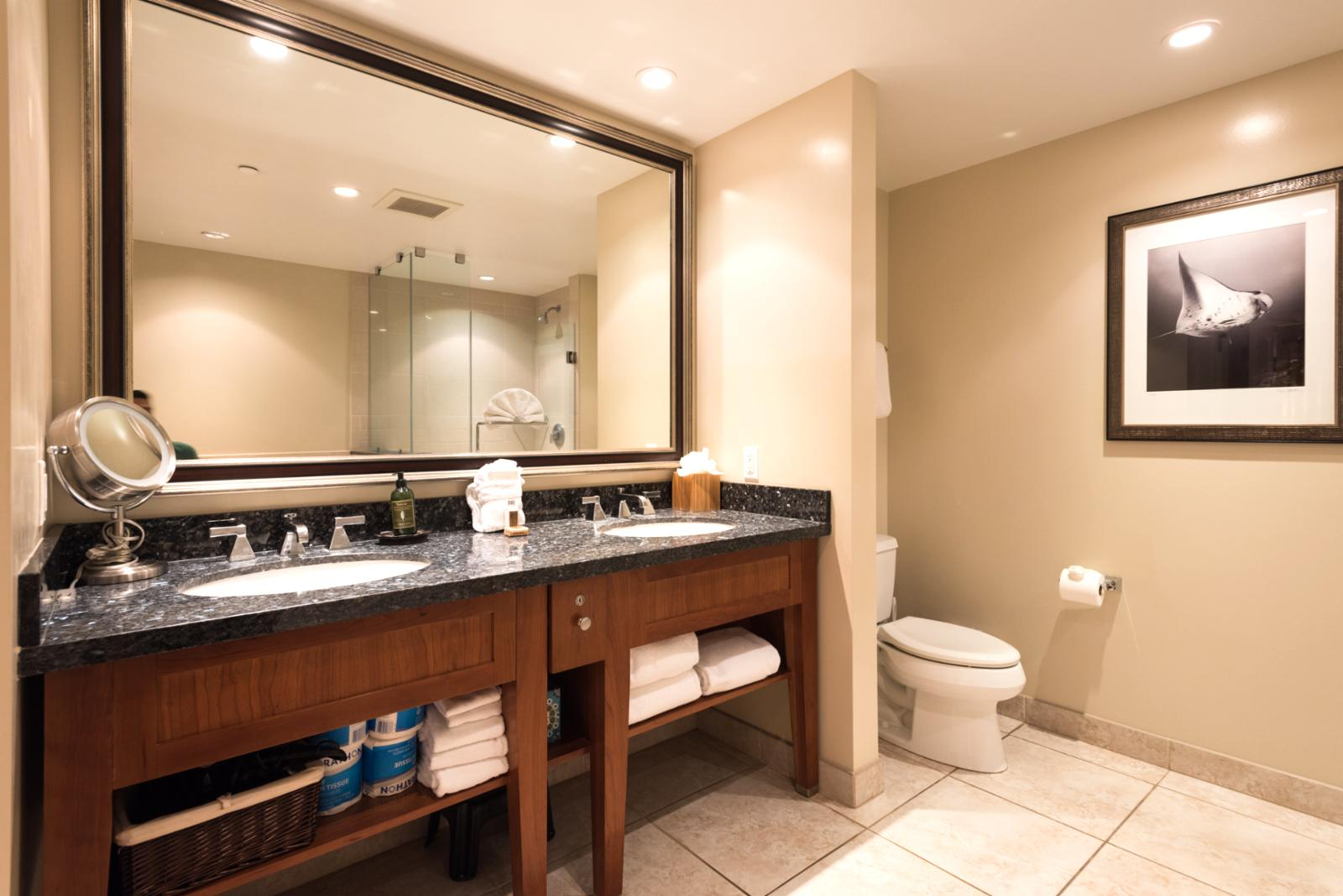 Dual sinks, spacious layout