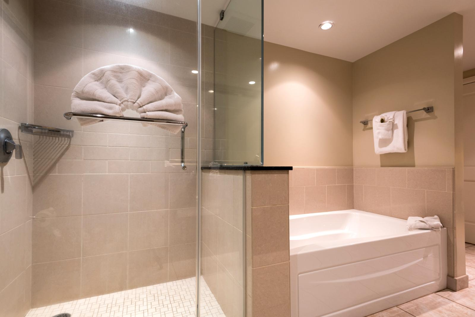 Shower and bath tub