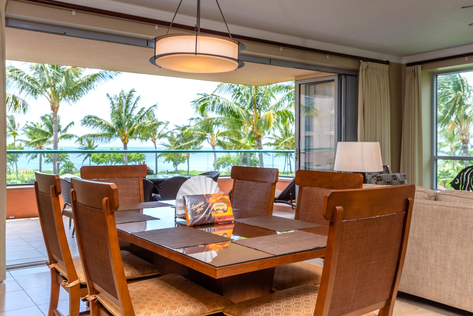 Formal dining room with ocean views!