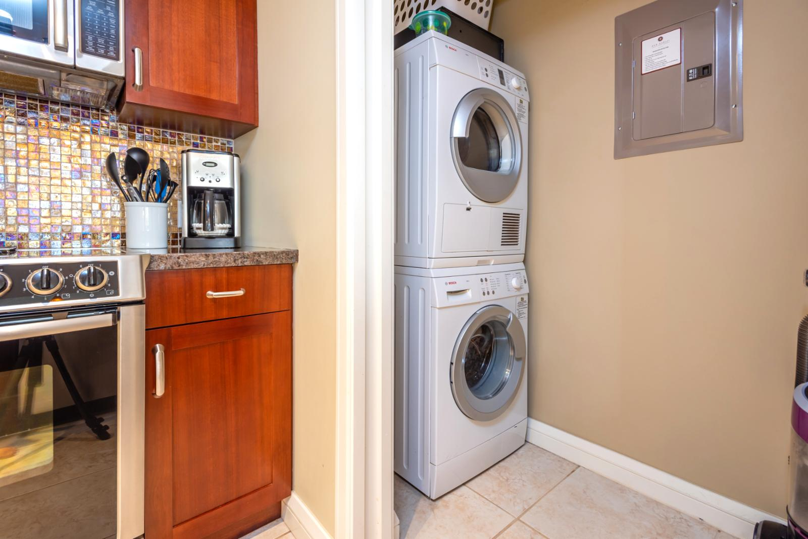 Bosch laundry appliance ready for your use!