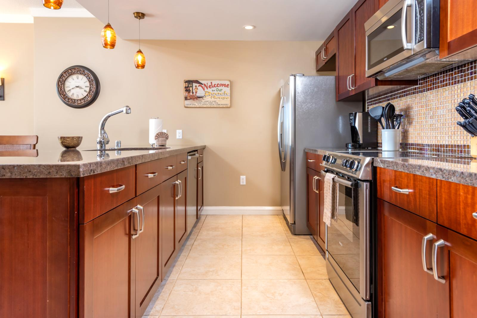 Fantastic stainless appliances equipped with ice maker