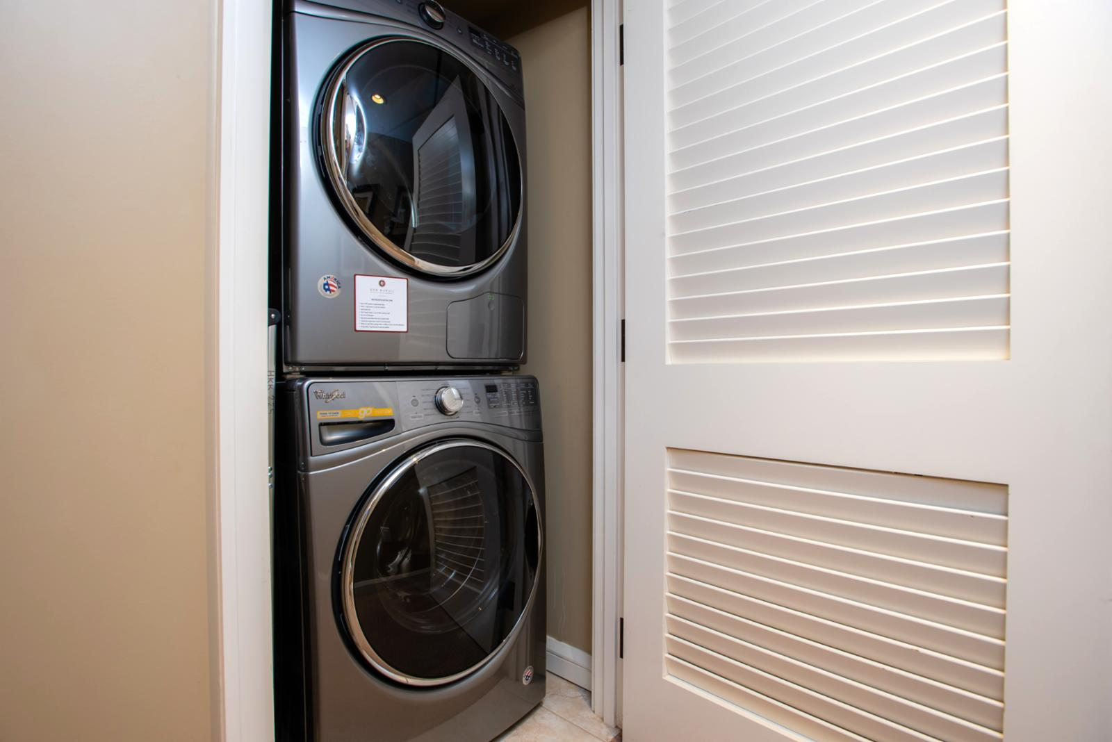 Laundry in unit ready for your use!