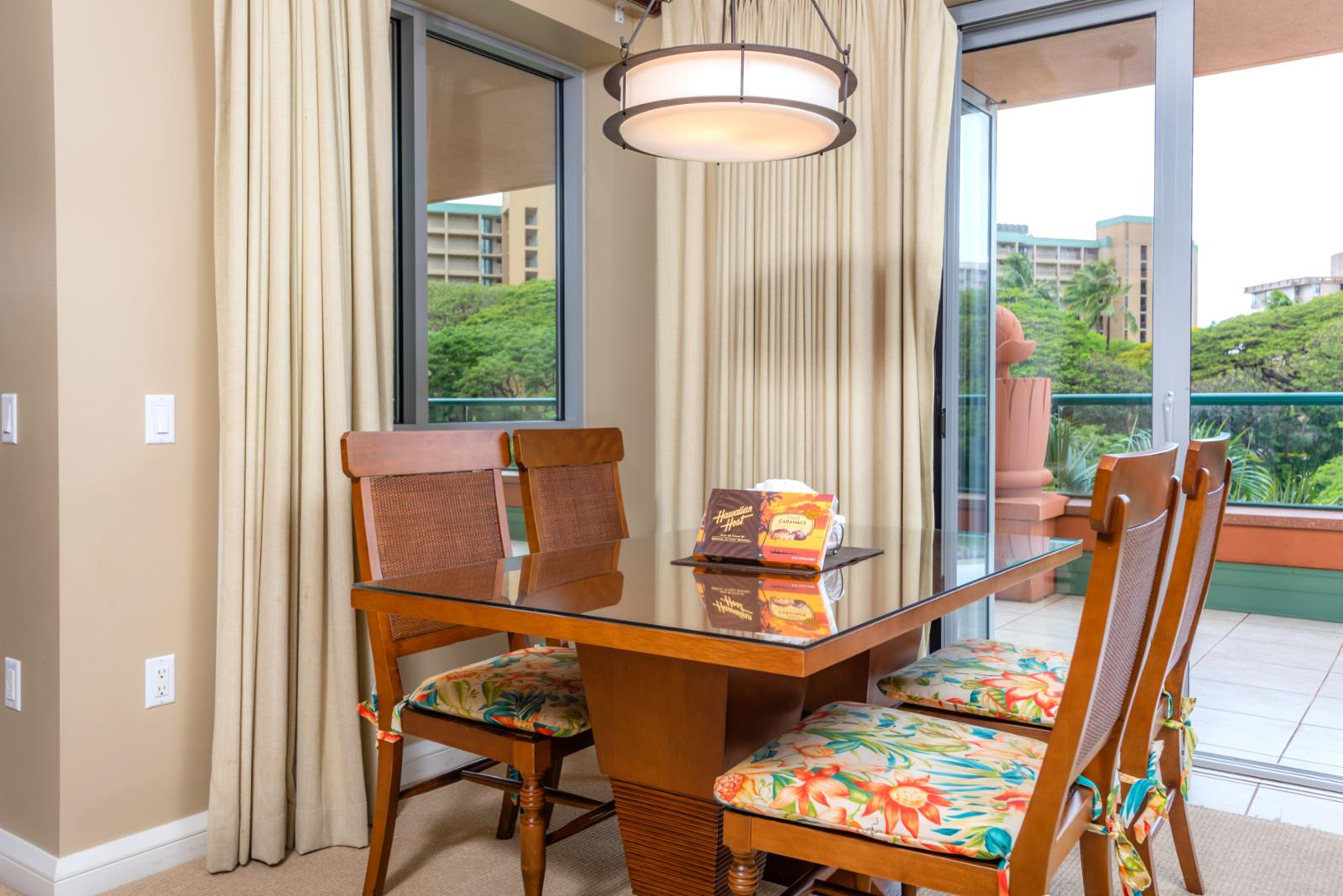 Comfortable formal dining room with beautiful views!