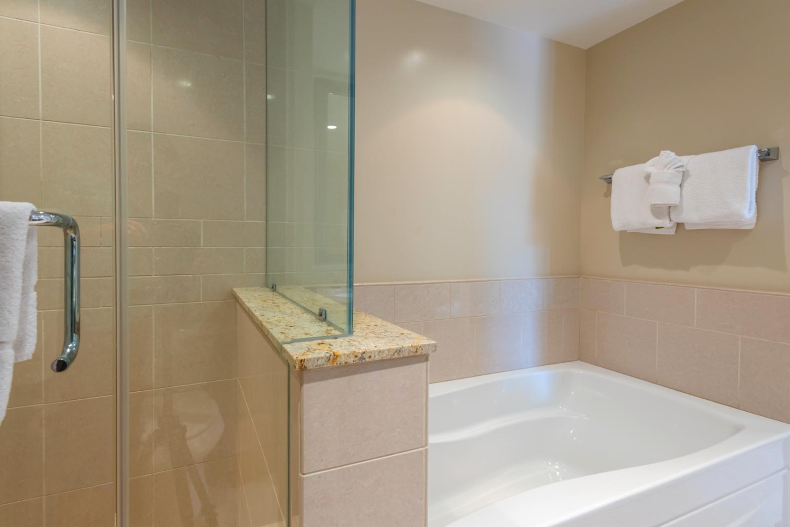 Alternate angle showing LARGE soaking tub