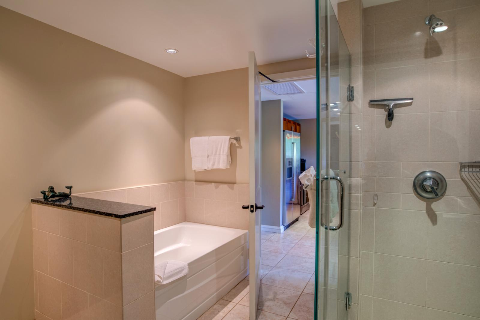 Bath and glass shower combination