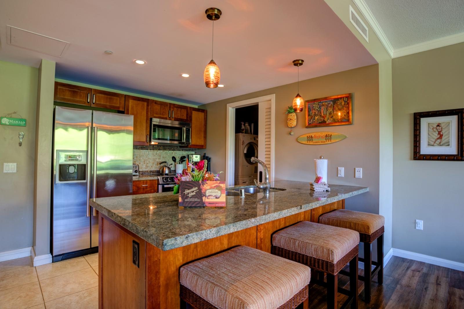 Breakfast bar seating for (3)