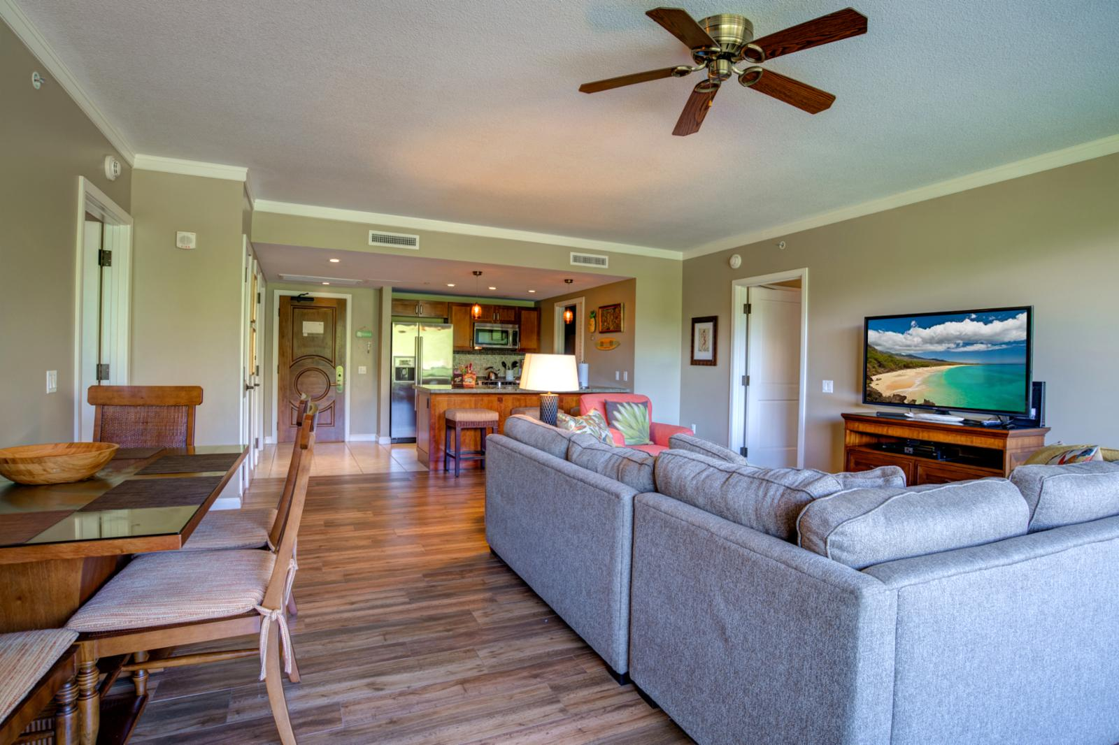 Comfortable seating and relaxing setting