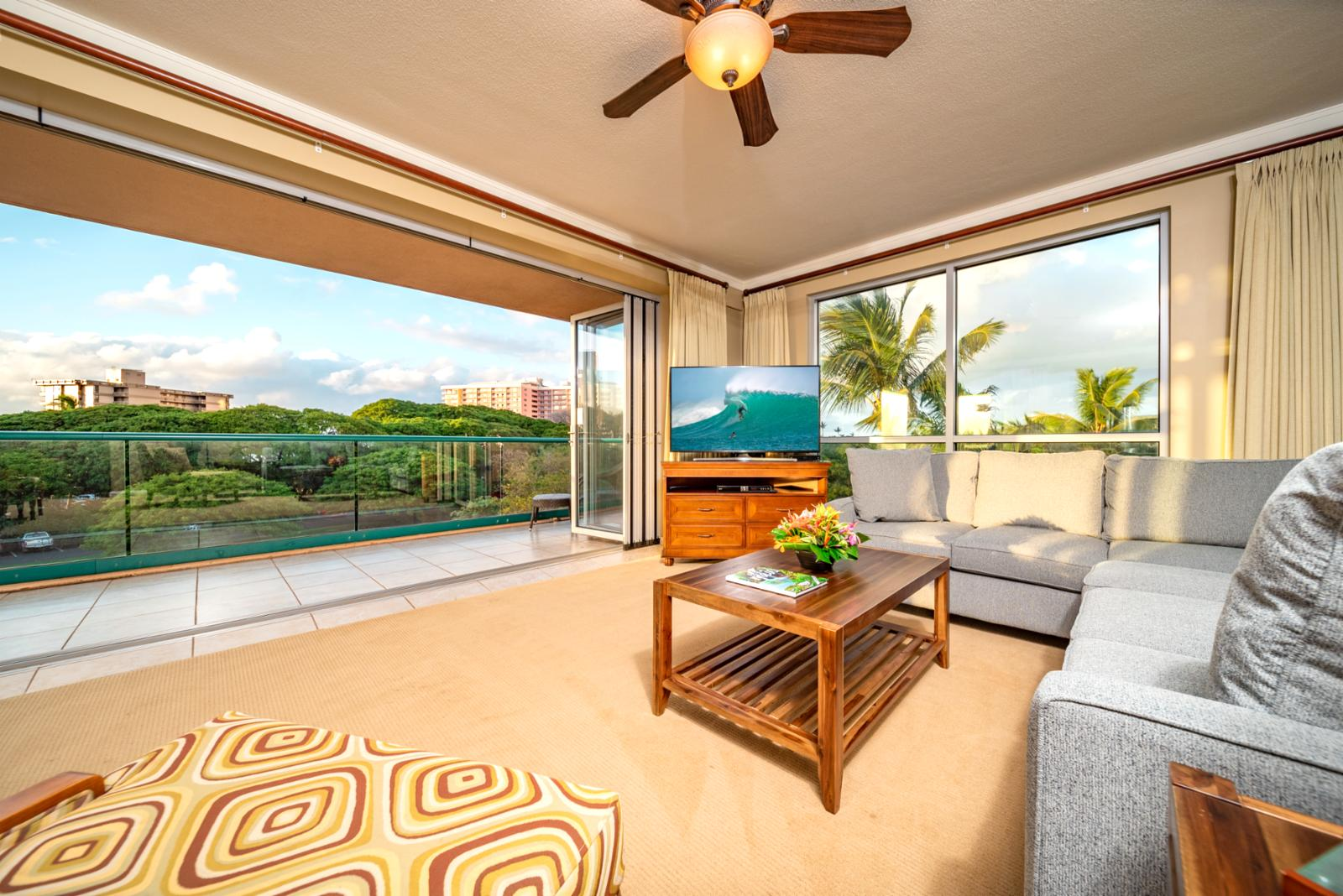 Beautiful sweeping views and tons of additional natural lighting