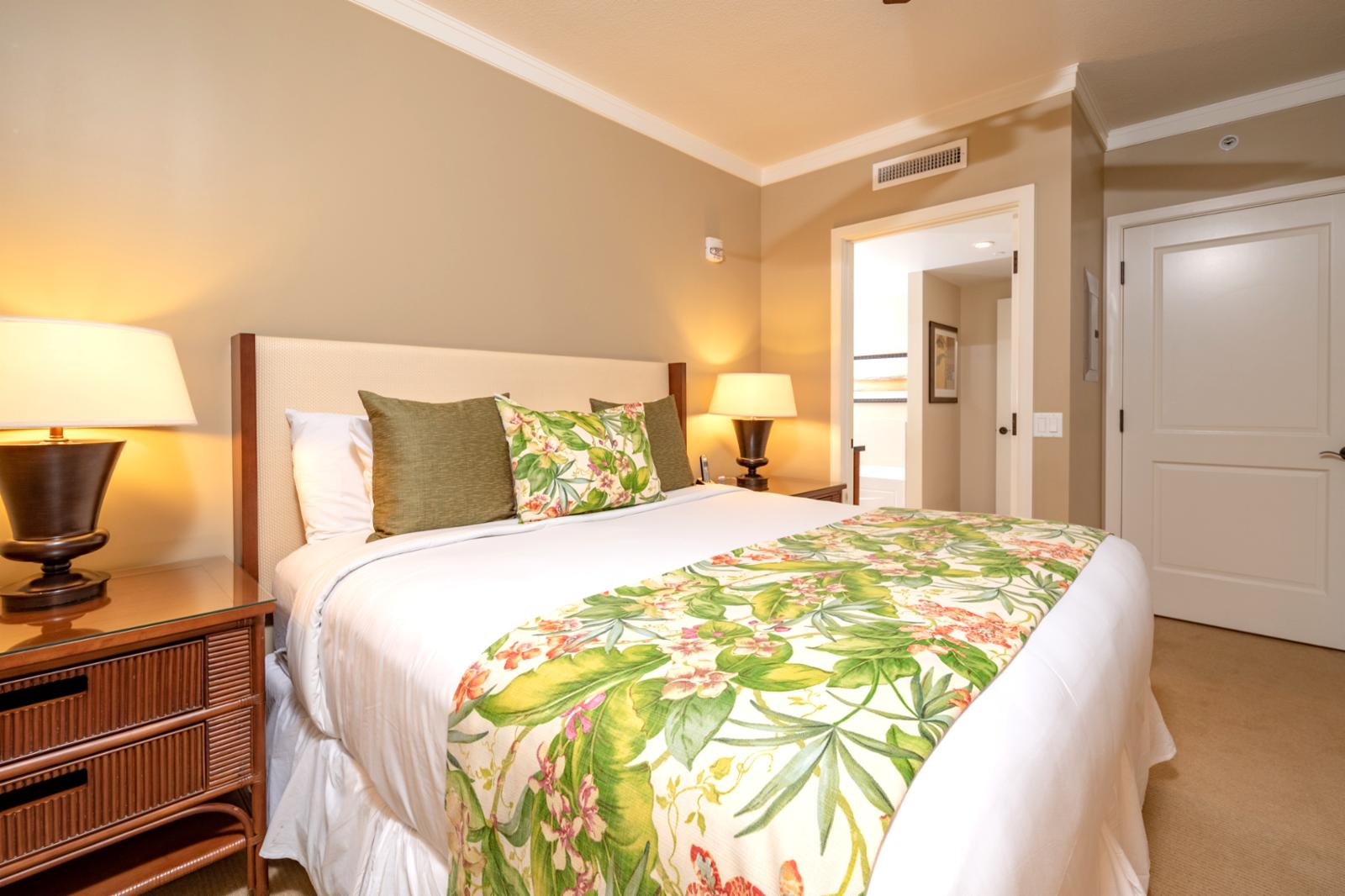 Guest suite, comes fully equipped with ceiling fan