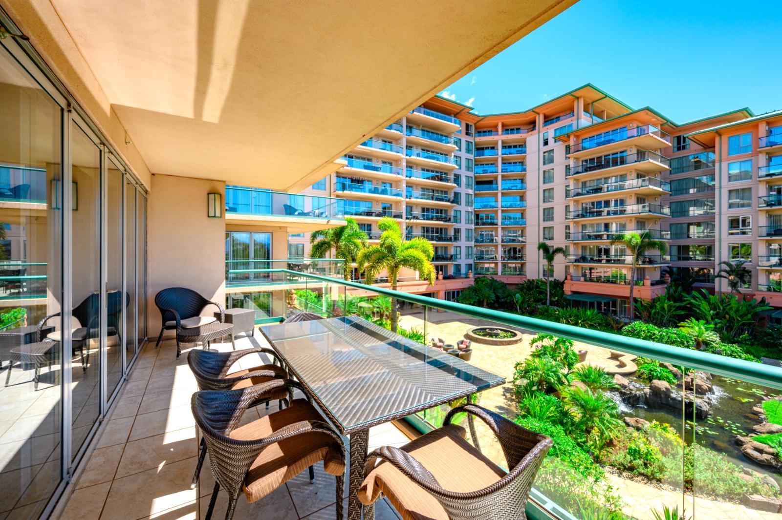 Lanai and Resort View