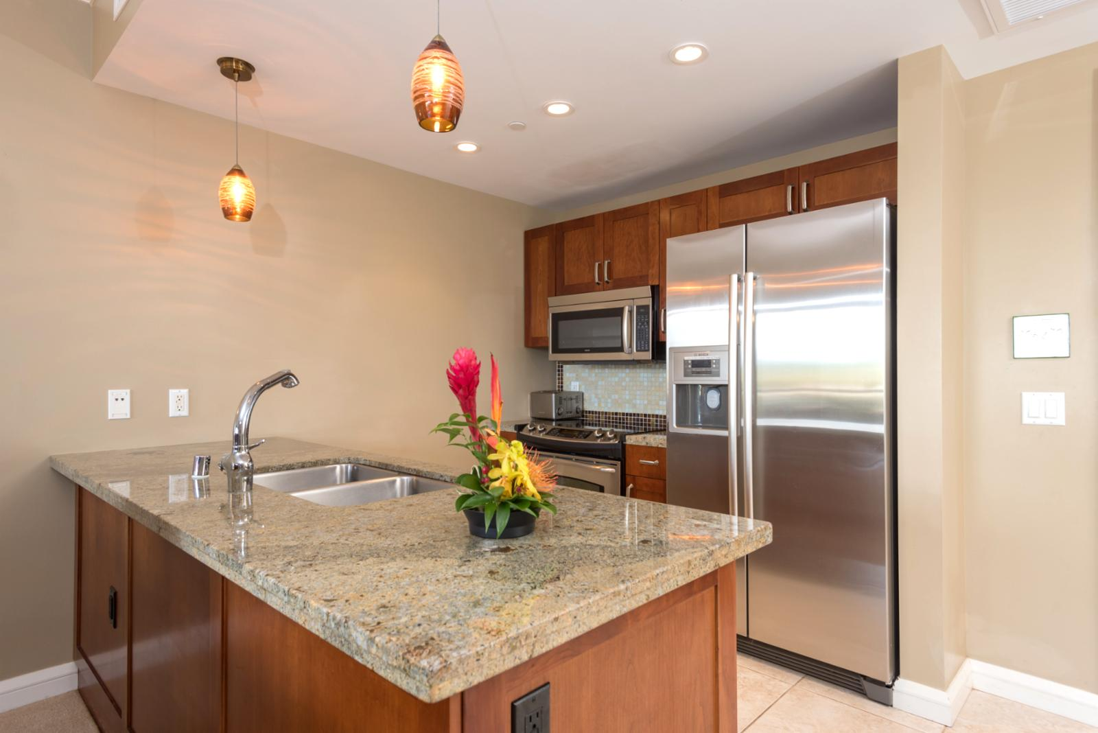 Stainless steel appliances - ready for meal preparation!