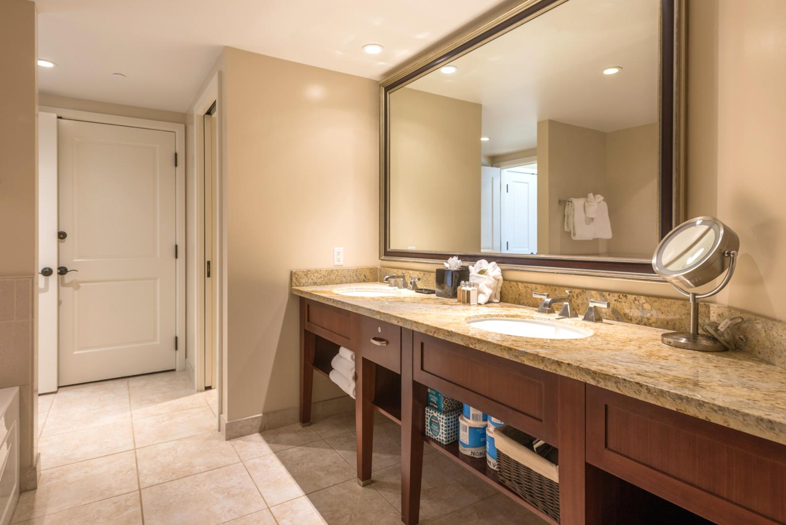 LARGE master bathroom, perfect for families!