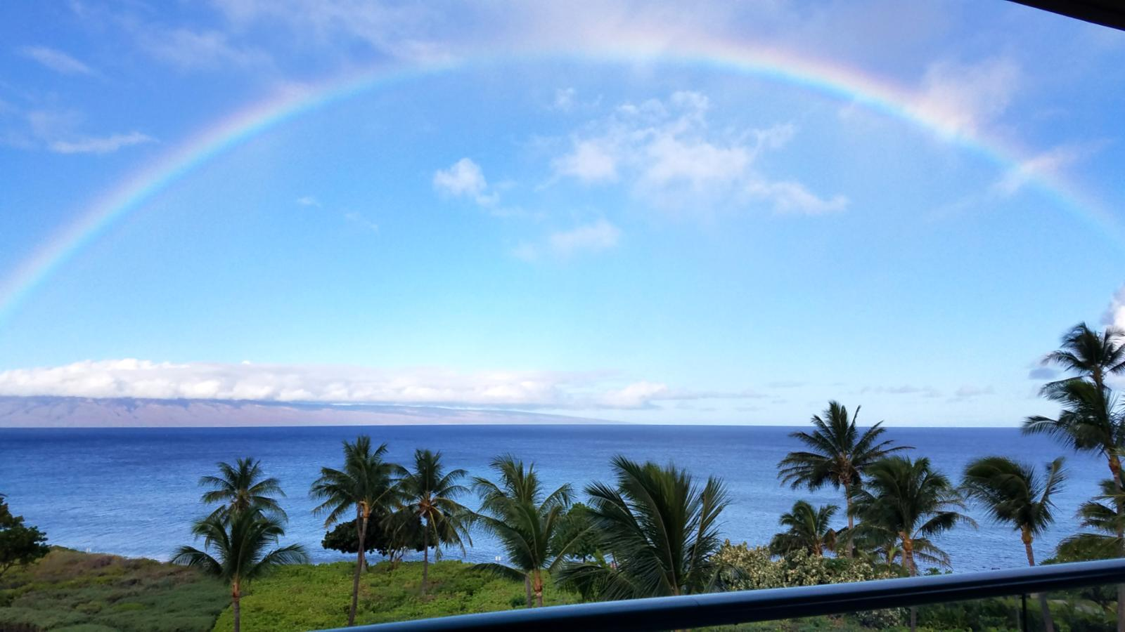 Stunning rainbow as seen from the Lanai