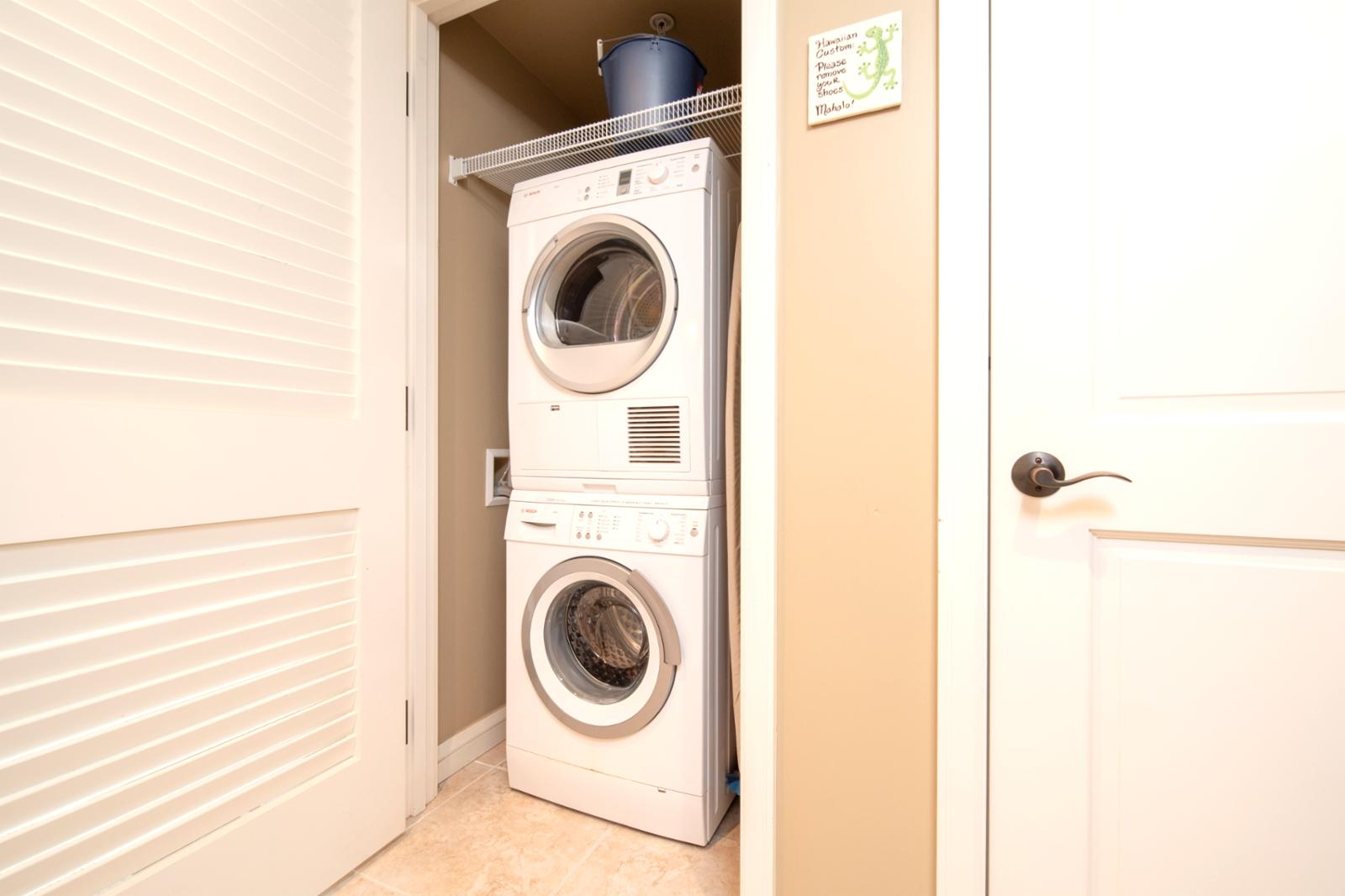 Laundry units ready for your use!