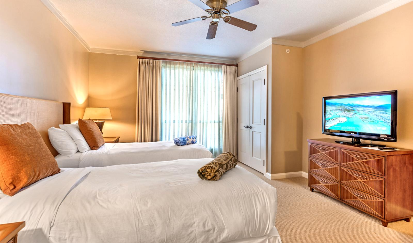 Beds in guest room may be made up as either two twins or one king, please specify when booking!