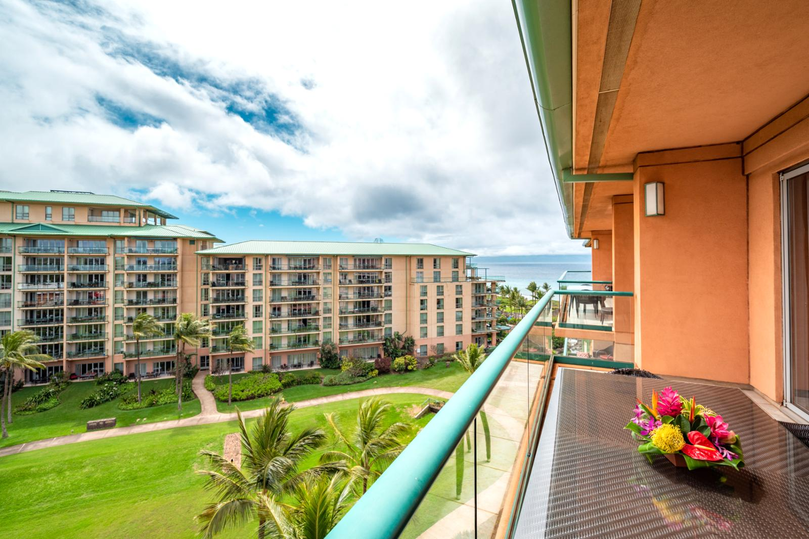 Large private balcony, enjoy the ocean breeze!