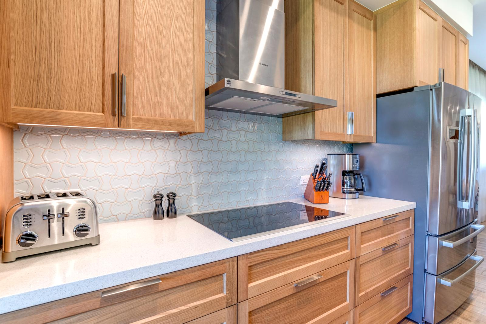 Kitchen has all appliances you will need for cooking delicious meals at home!