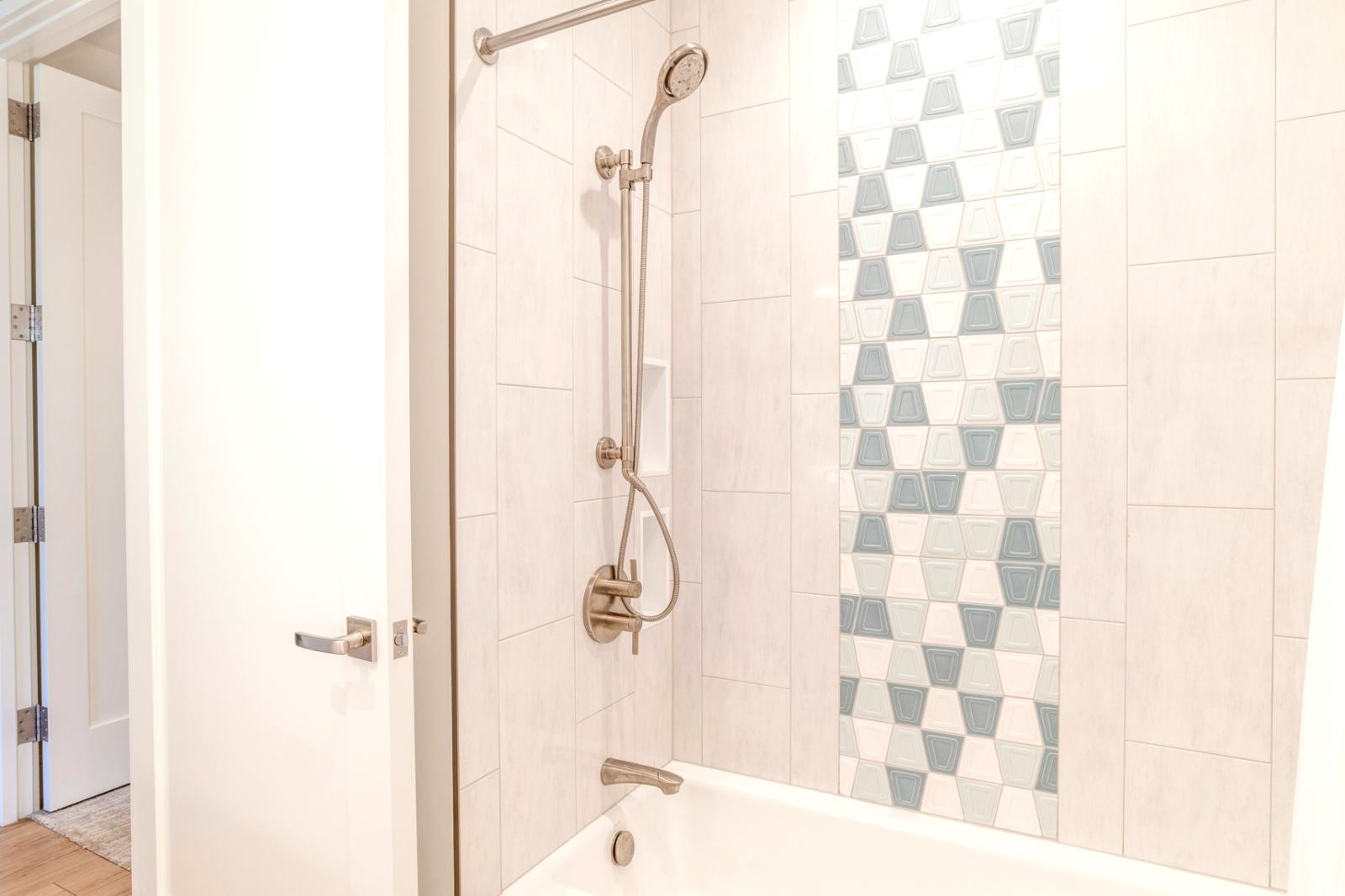 Gorgeous shower features