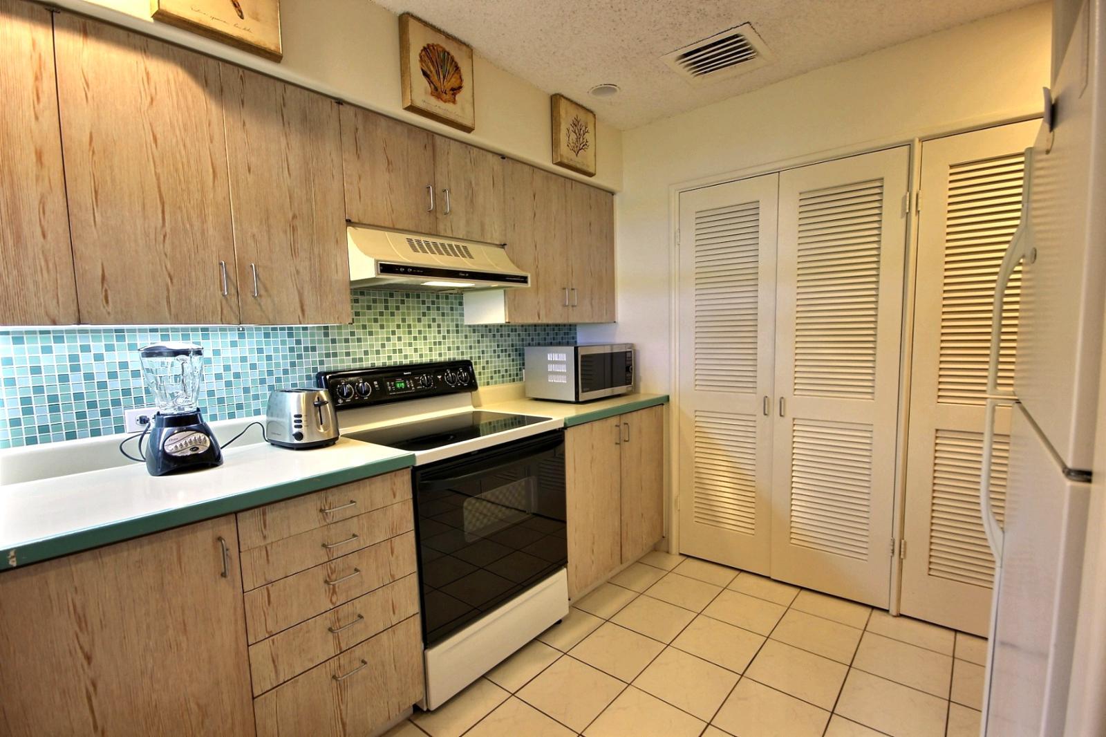 Large gourmet kitchen.