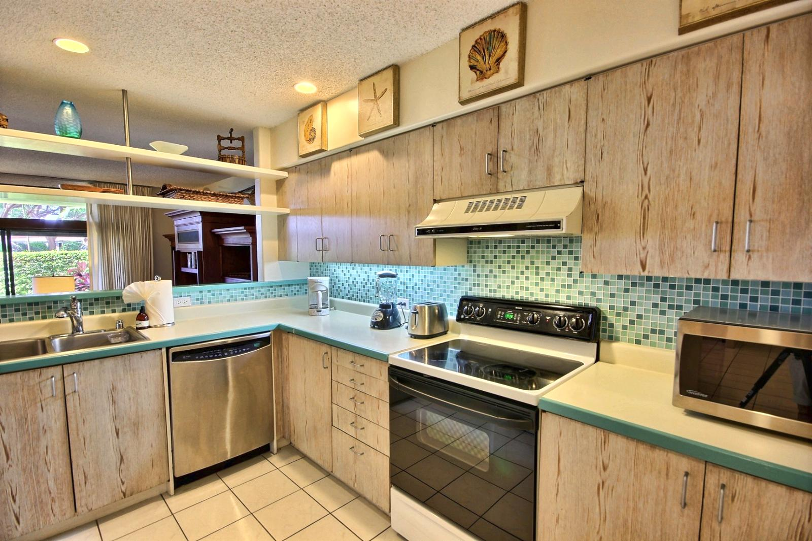Coffee maker and everything you need to enjoy your stay in the comfort of this large condo.