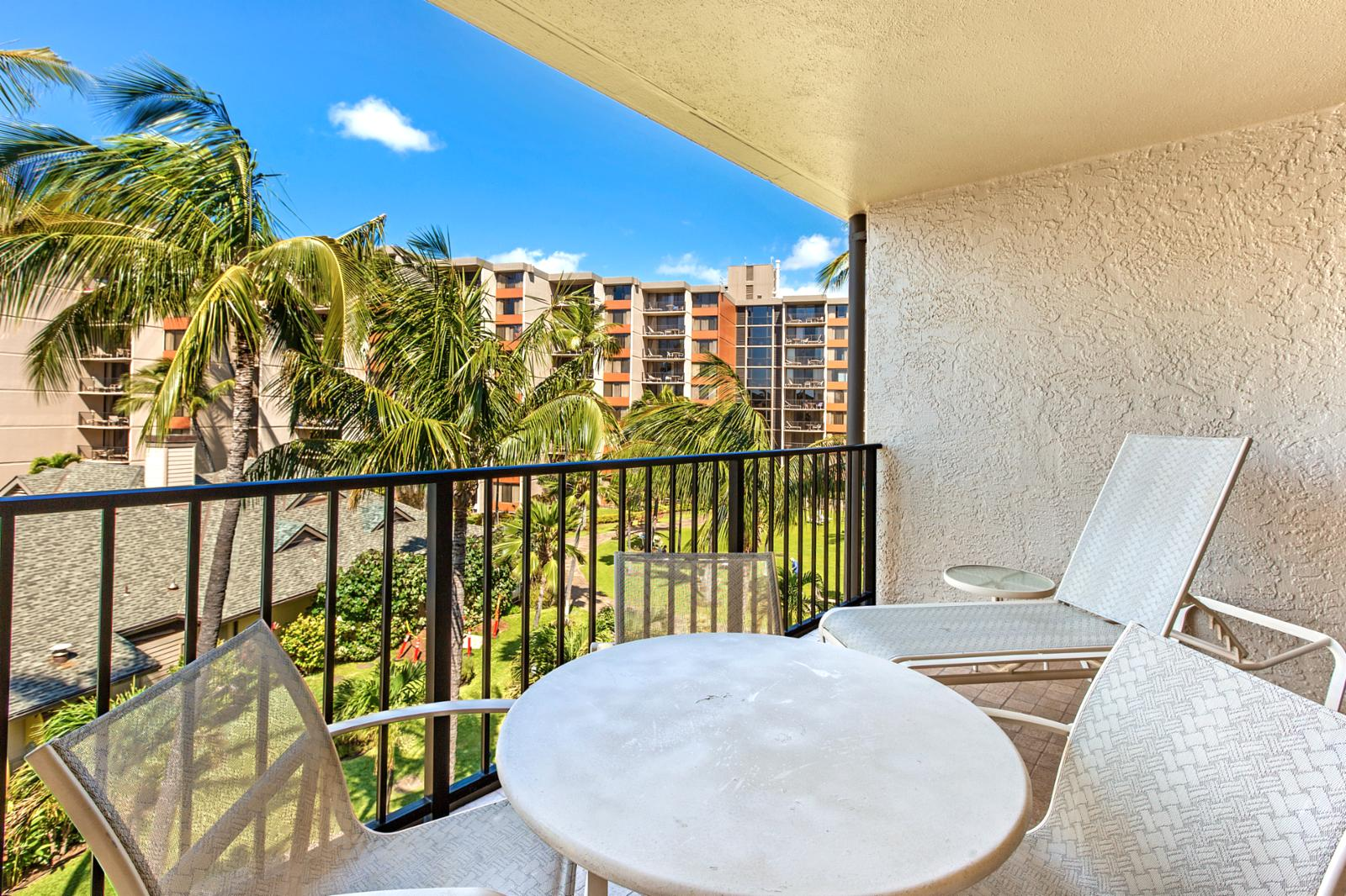 Relax and reflect while enjoying this private balcony