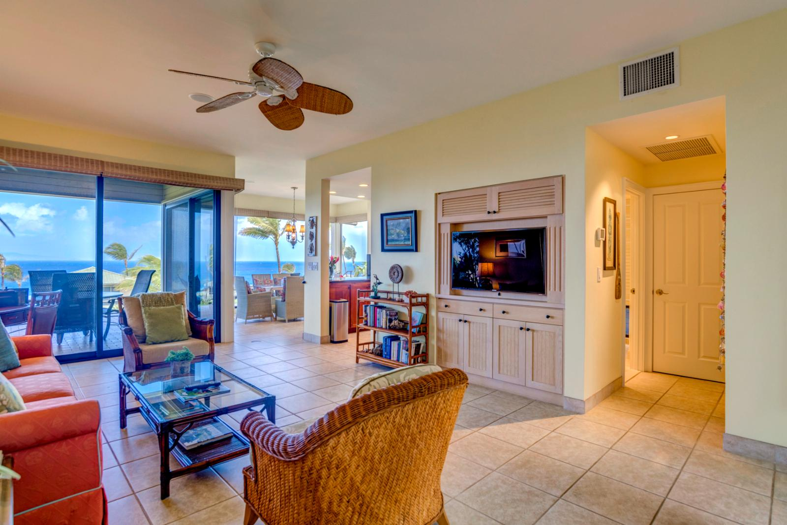 Equipped with ceiling fans throughout and multiple access points to the beach!